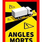 Stickers for indicating blind spot mandatory in France. Order them quickly via European Trailer Care