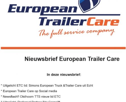 European Trailer Care Nieuwsbrief 2-2021